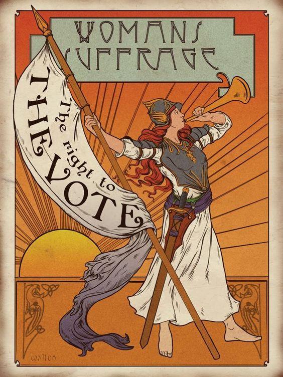 suffragist horn poster