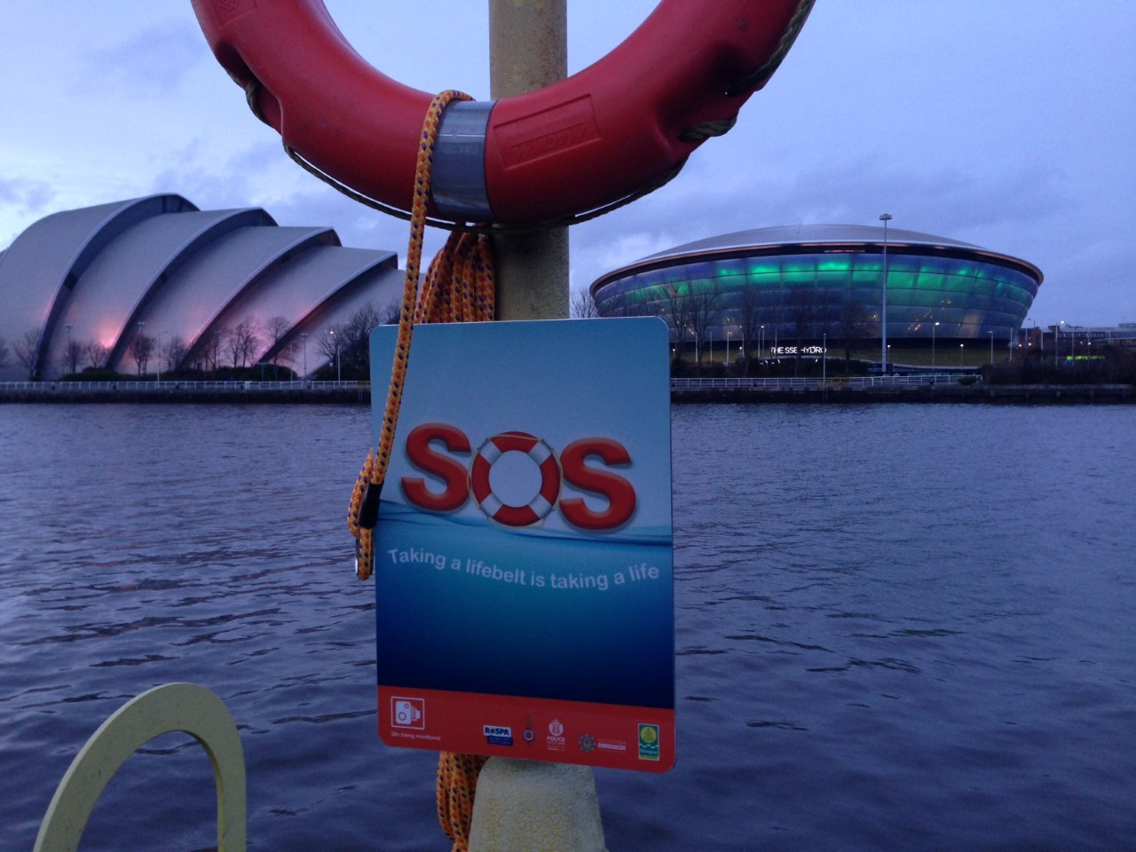 Glasgow Exhibition Centre - SOS Lifebuoy